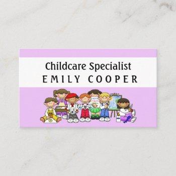 personalize daycare teacher preschool daycare business card