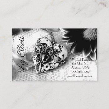 personalize these feminine steampunk business card