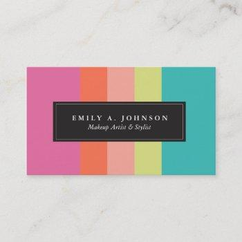 personalized | bright stripes business card