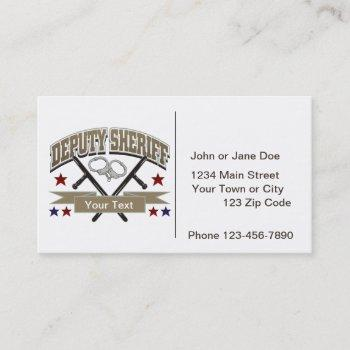 personalized deputy sheriff business card