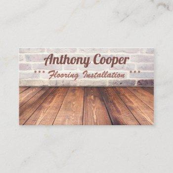 personalized flooring photo business card