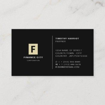 personalized logo, professional business & finance business card