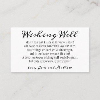 personalized wedding wishing well cards