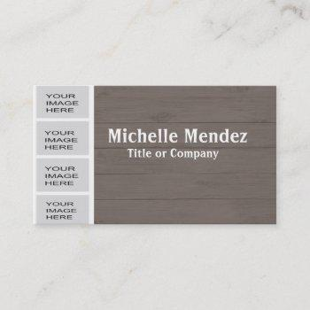 personalized wood photo booth business card
