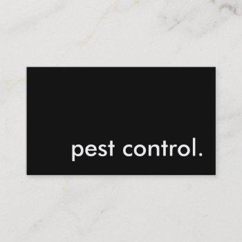 pest control. business card