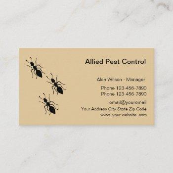 pest control exterminating services business card