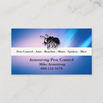 pest control exterminator ant business card
