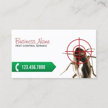 pest control professional bug killer business card