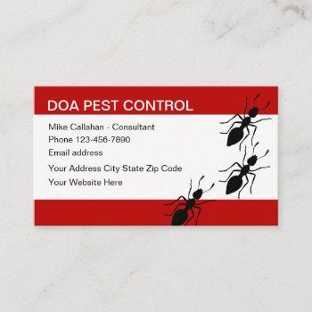 pest control services modern design business card