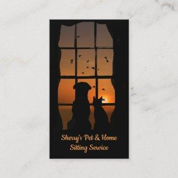 pet and home sitting service business cards