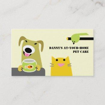 pet care professional business card