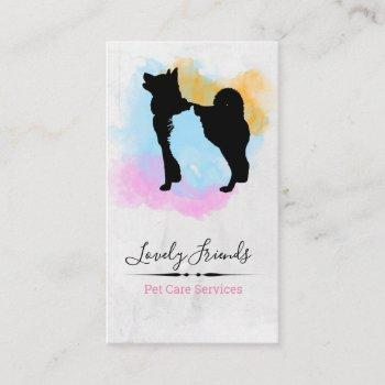 pet care services/ sitting services business card