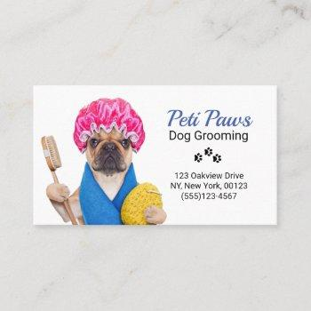 pet dog grooming service business card