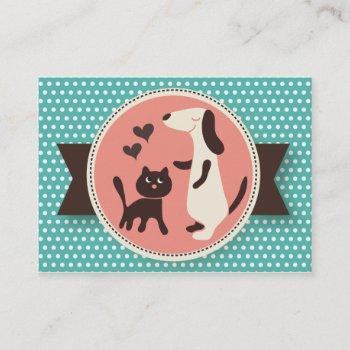 pet sitter business card - personalizable