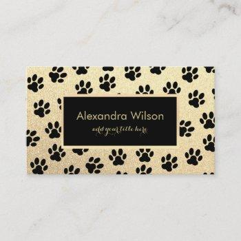 pet sitter dog walker design business card