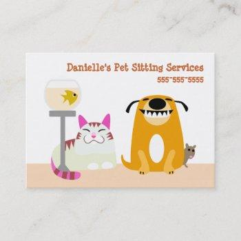 pet sitting services business card