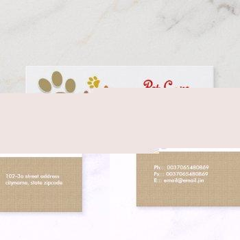 pets pet care business card