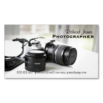 photagraphy photographer camera lens magnetic business card