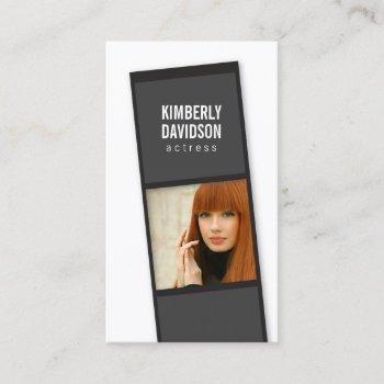 photo booth film strip for actors, models business card