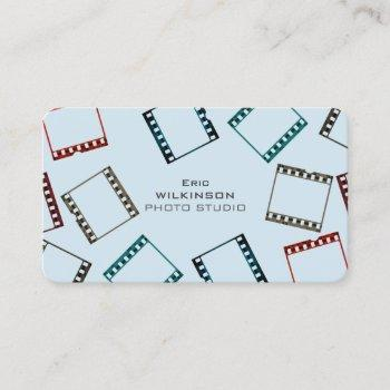photo film tape pattern colorful cover business card
