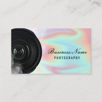 photographer camera holographic photography business card