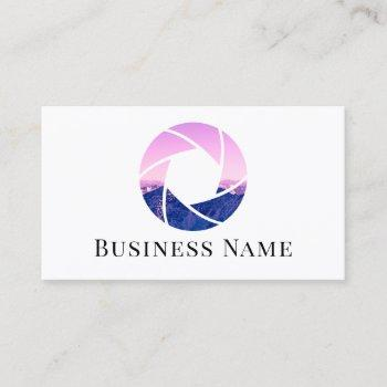 photographer camera shutter photo photography business card