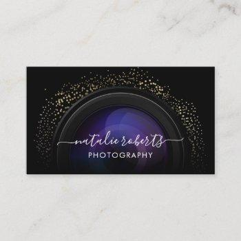 photographer camera typography photography business card