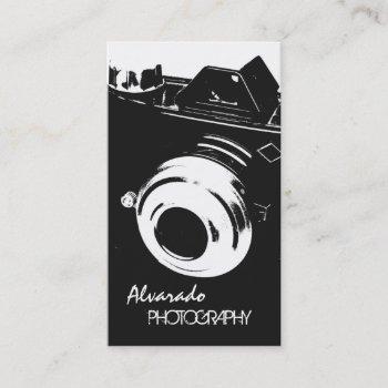 photographer creative retro black white camera business card