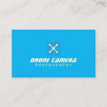 photographer drone aerial video & photography blue business card