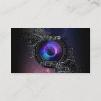 photographer hand framed camera photography business card