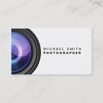 photographer photography camera lens professional business card