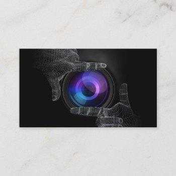 photographer professional hands frame photography business card