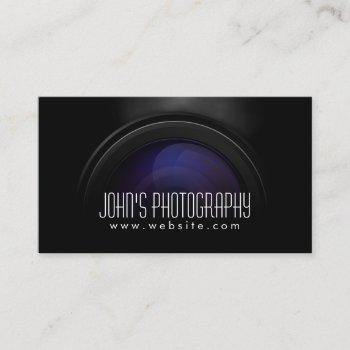 photographer smoking camera lens professional business card