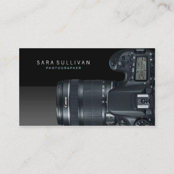 photographer visual arts media dslr camera business card
