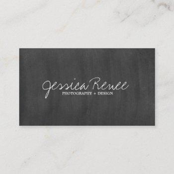 photography | chalboard business card