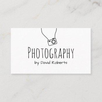 photography hand script minimalist business card