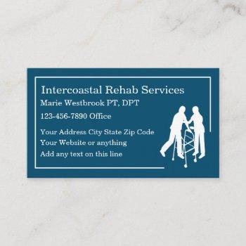 physical therapist medical clinic business card