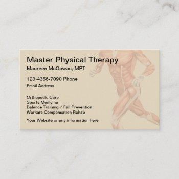 physical therapist therapy clinic business card