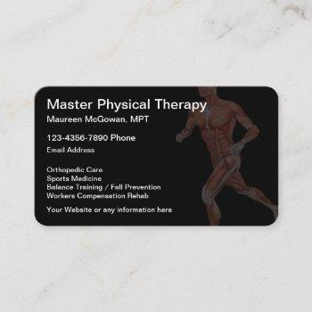 physical therapy themed business card