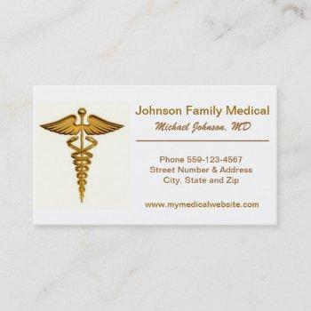 physician's / medical doctor's business card