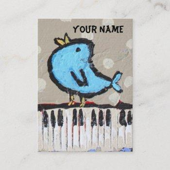 pianist business card