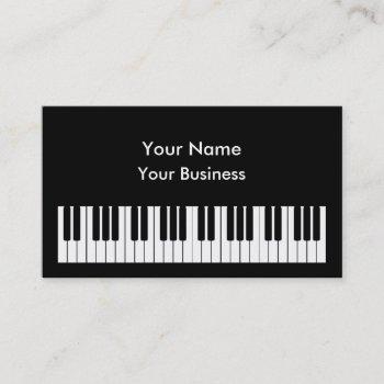 piano keyboard business card template