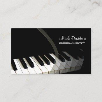 piano keyboard/teacher/tuner business cards
