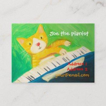 piano player, music lover business card