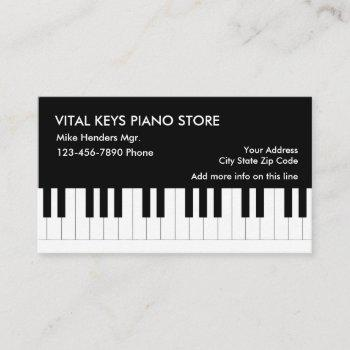 piano theme business card
