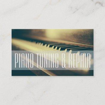 piano tuning & repair music instructor business business card
