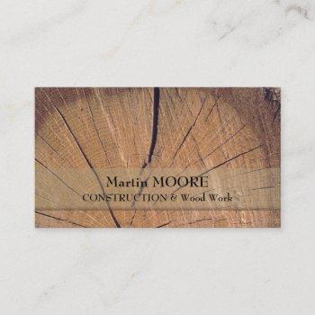 piece of wood rustic rough realistic surface business card