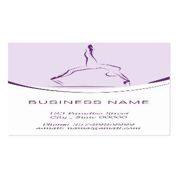 Small Pilates Instructor Card With Two Pilates Poses Back View