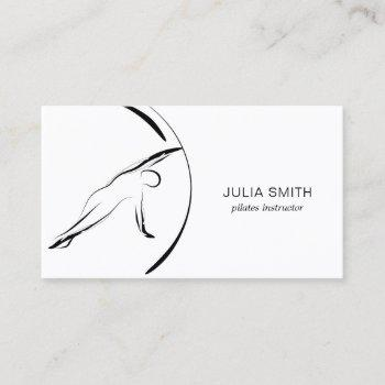 pilates instructor pilates pose abstract pilates business card