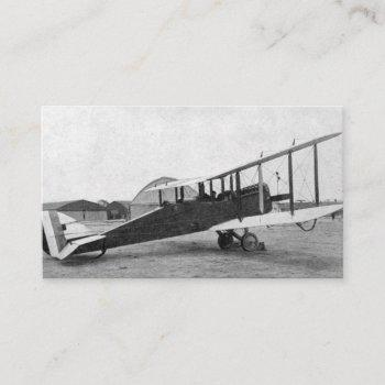 pilot aviation airplane vintage business card